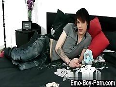 Gay movie Hot emo youngster Lewis Romeo gets down and messy in his