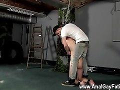 Gay guys Slave Boy Fed Hard Inches