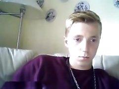 Danish Beautiful Boy show cock and sperm via cam