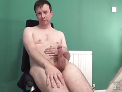 Horny Boy in Thick Cock Masturbation Session