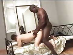 Muscled Black Boy and Slim White Twink