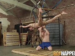 Sean Taylor tortures Xavier Sibleys balls and makes him cum