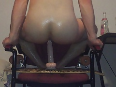 Oiled Bubble Butt Twink Riding Dildo