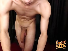 Gigantic twink cock - sexy boy plays with his thick monster cock on cam