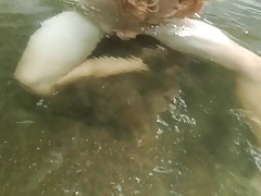 Cute twink goes skinny dipping