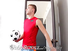 HD - ManRoyale Soccer twink takes huge cock in his tight ass