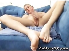 Cute college boy masturbating his fine part6
