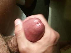 Close up jerk off with spurting cumshot