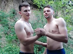 Ukrainians Str8 Smooth Friends Go Gay In Forest For Pay