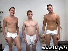 Gay sissy ass cocks I brought back Jayce, Sean and Leon for another 3way