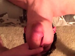 Choking on my thick cock (Part 2)