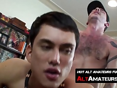 Asian twink Tristan knows how to pleasure fat prick